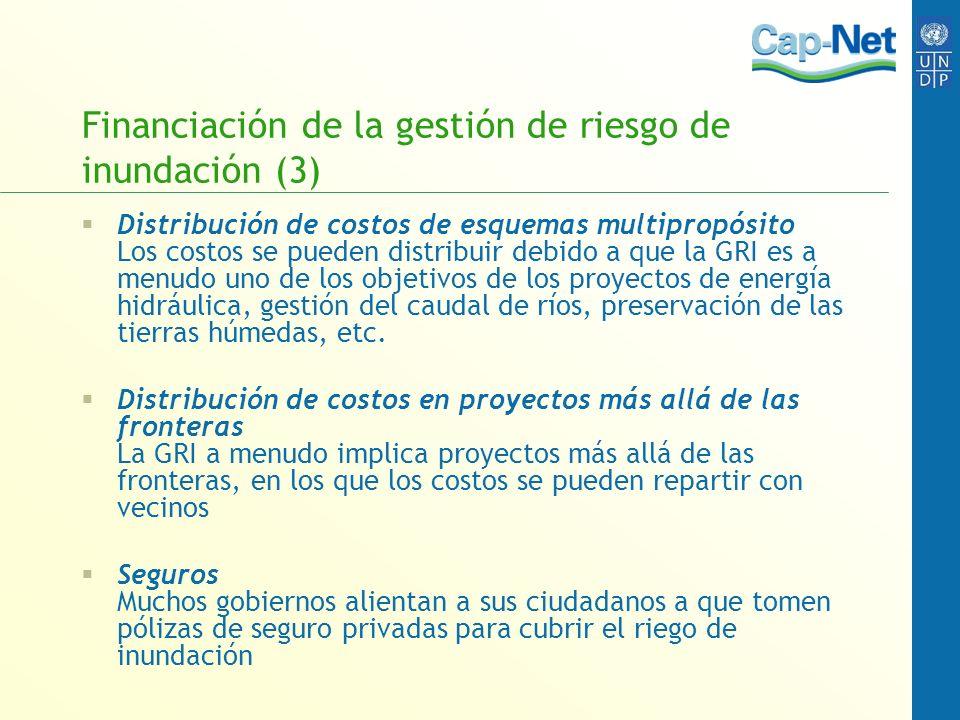 Financiación de la gestión de riesgo de inundación (3)