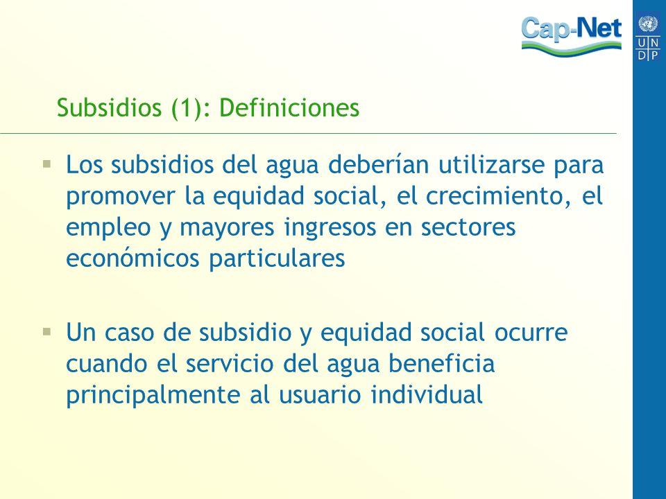 Subsidios (1): Definiciones