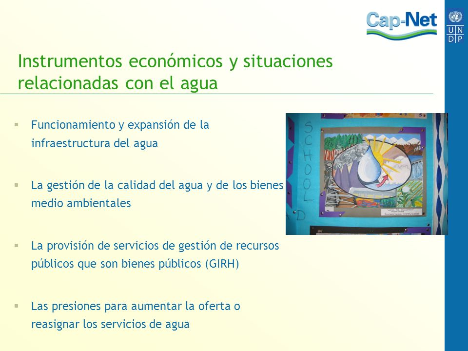 Instrumentos económicos y situaciones relacionadas con el agua