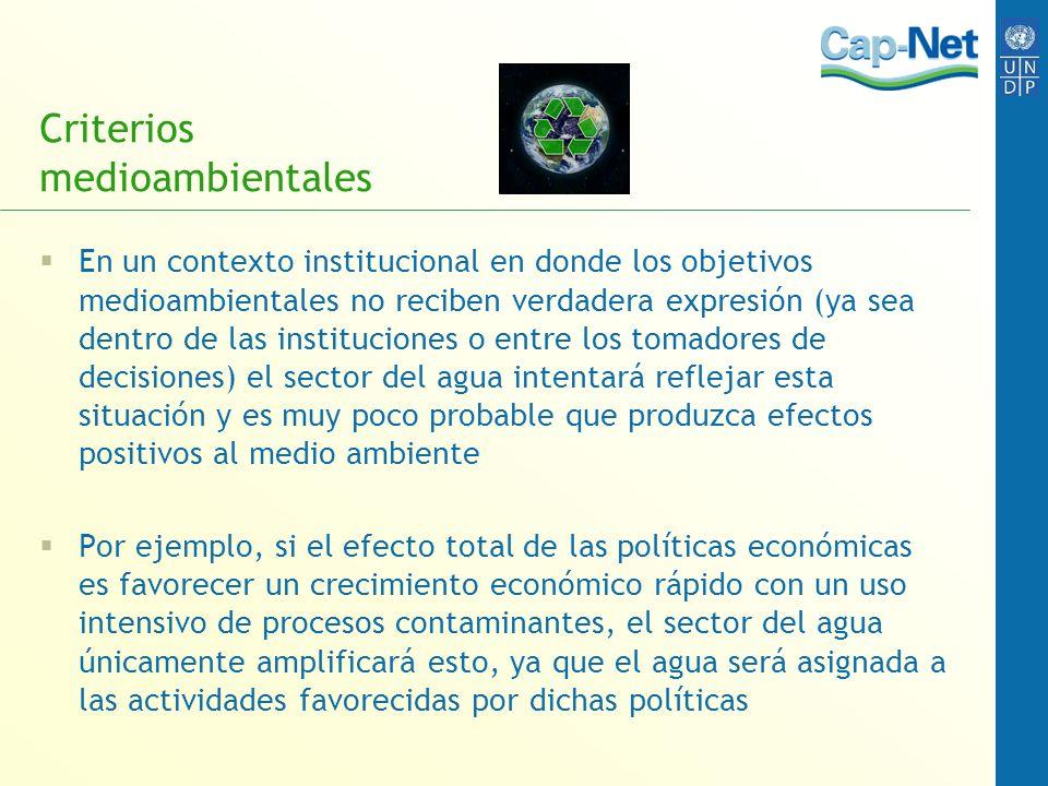 Criterios medioambientales