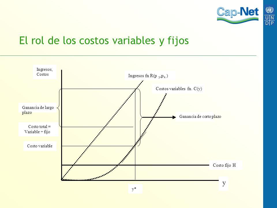 El rol de los costos variables y fijos