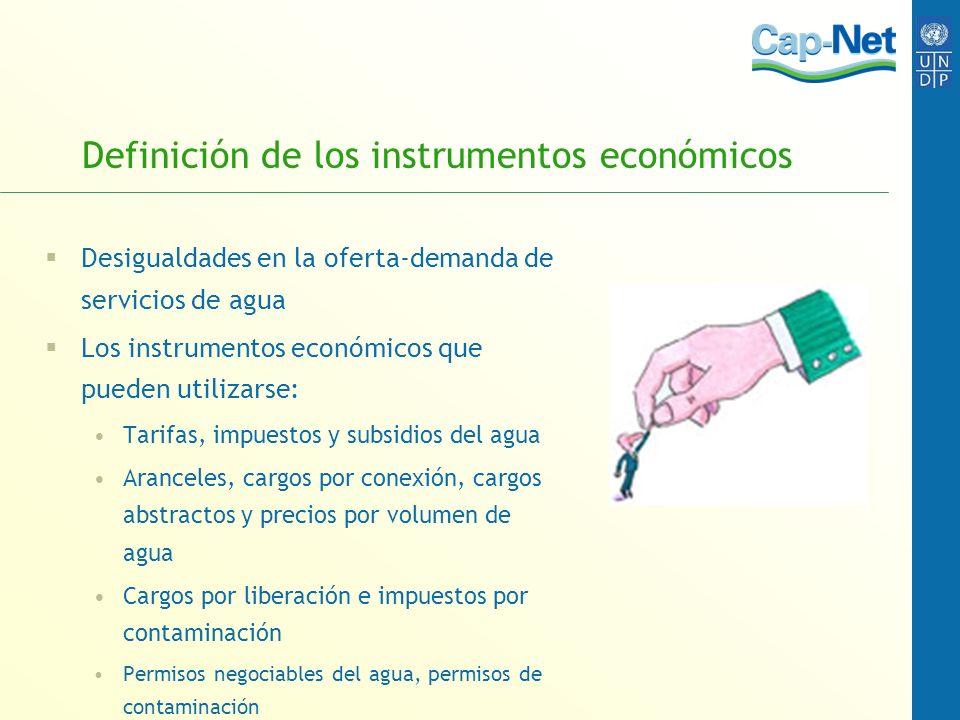 Definición de los instrumentos económicos