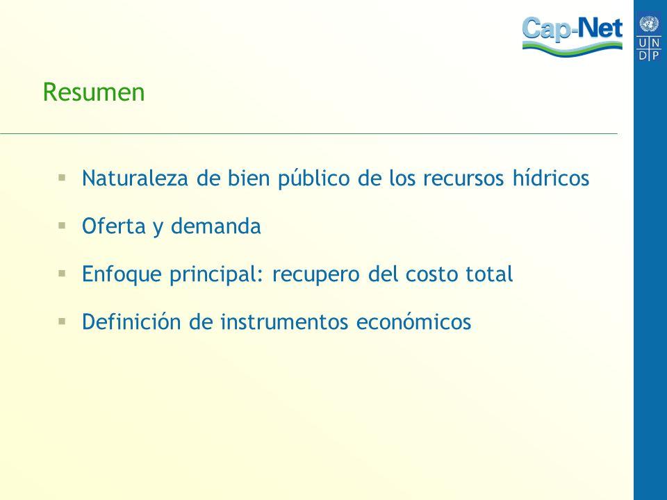 Resumen Naturaleza de bien público de los recursos hídricos