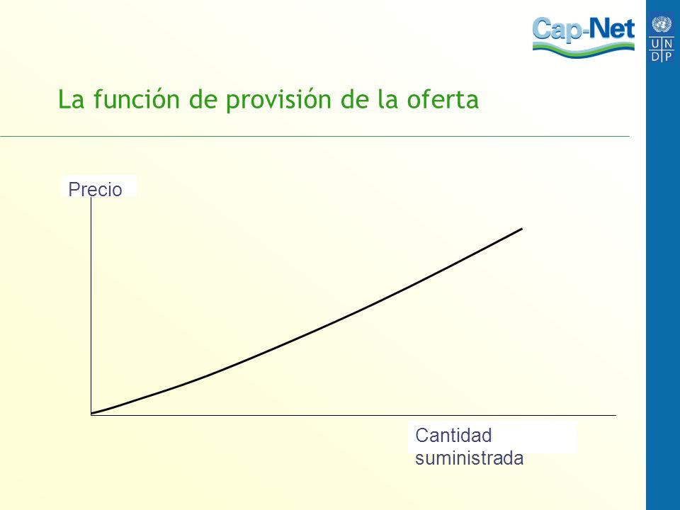 La función de provisión de la oferta