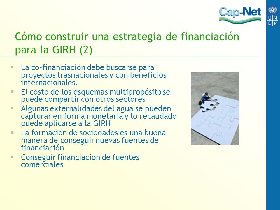 Cómo construir una estrategia de financiación para la GIRH (2)