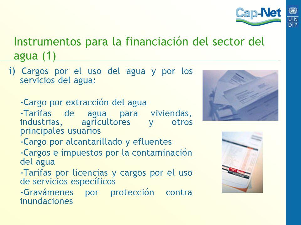 Instrumentos para la financiación del sector del agua (1)