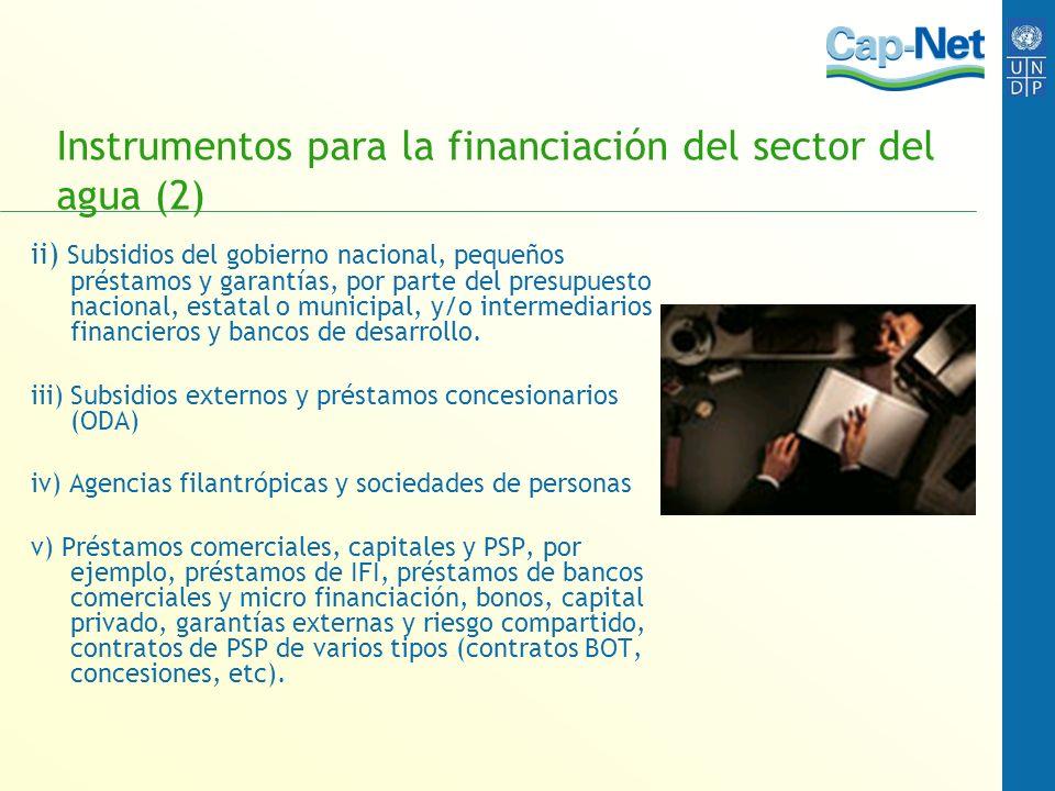 Instrumentos para la financiación del sector del agua (2)