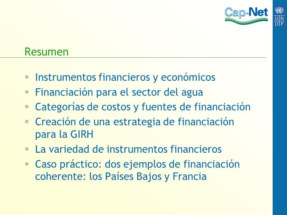 Resumen Instrumentos financieros y económicos