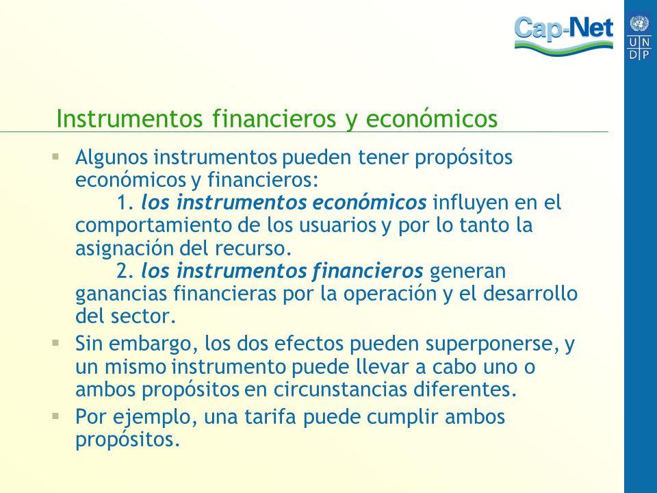 Instrumentos financieros y económicos