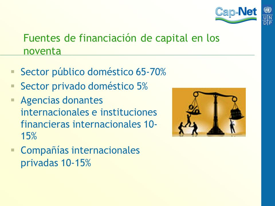 Fuentes de financiación de capital en los noventa