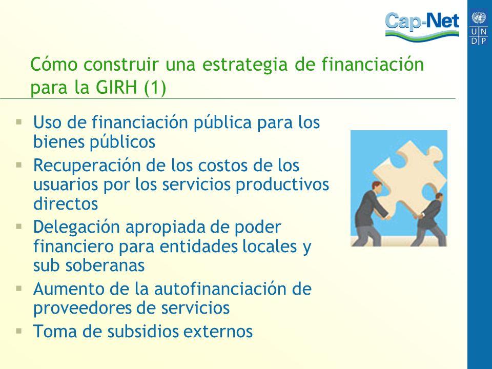 Cómo construir una estrategia de financiación para la GIRH (1)