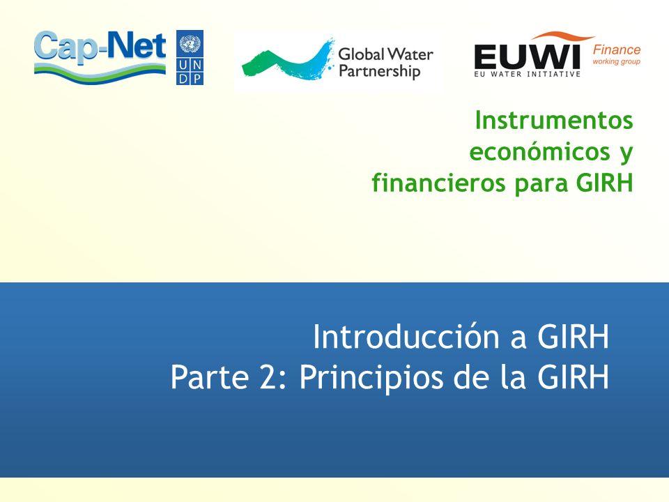 Instrumentos económicos y financieros para GIRH