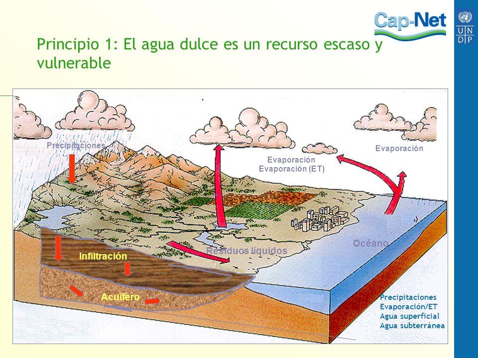 Principio 1: El agua dulce es un recurso escaso y vulnerable