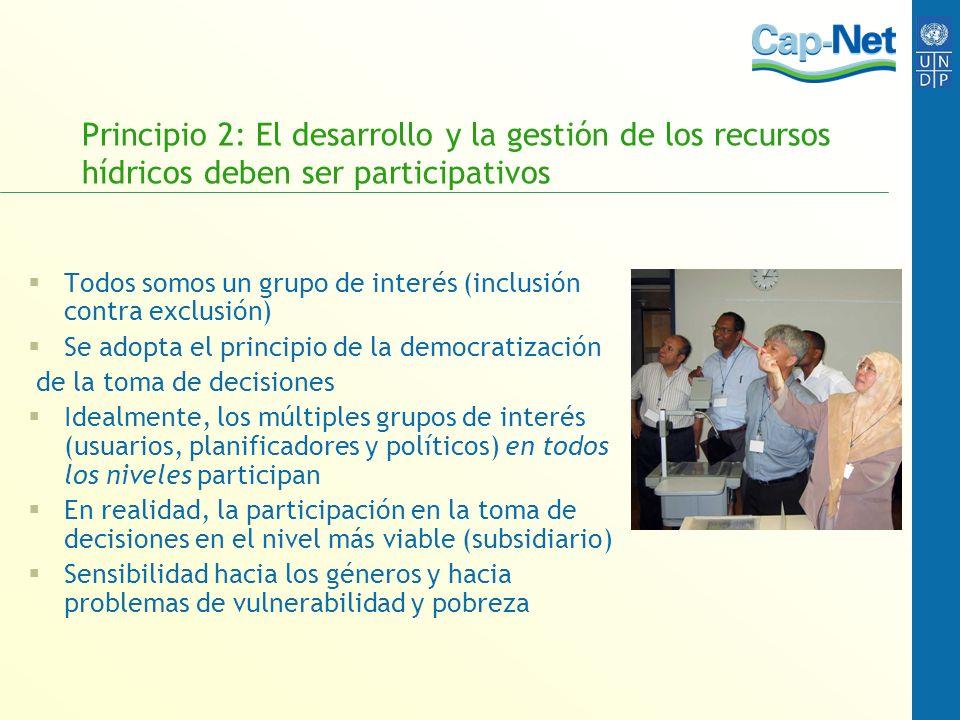 Principio 2: El desarrollo y la gestión de los recursos hídricos deben ser participativos