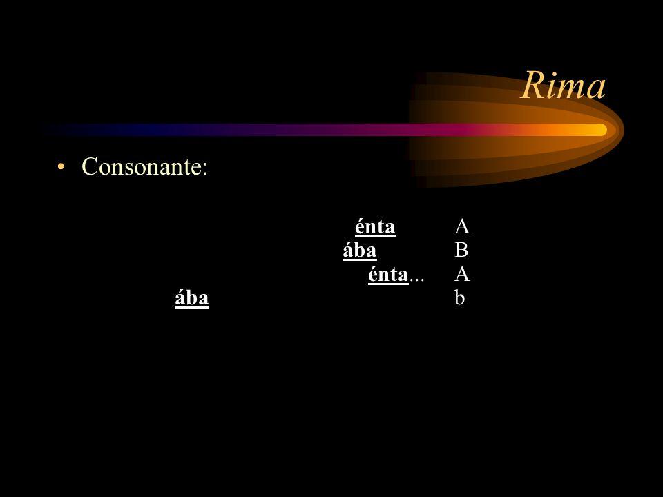 Rima Consonante: Fue una clara tarde, triste y soñoliénta A
