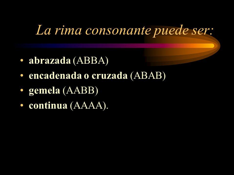 La rima consonante puede ser: