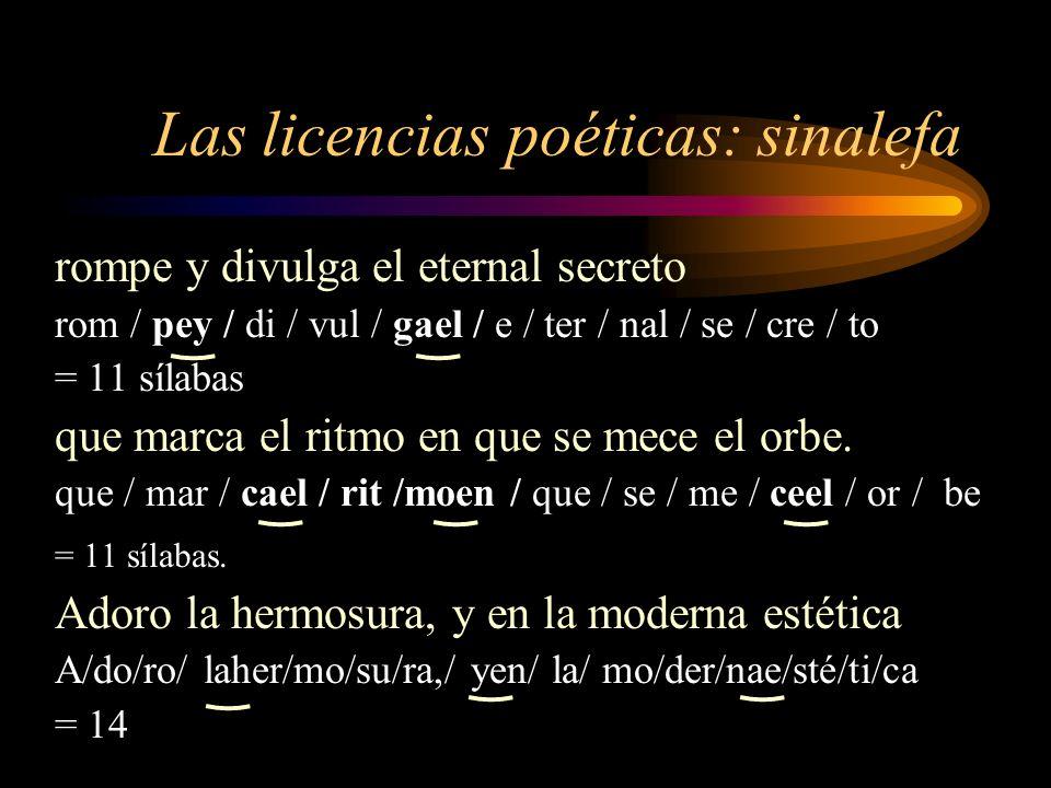 Las licencias poéticas: sinalefa