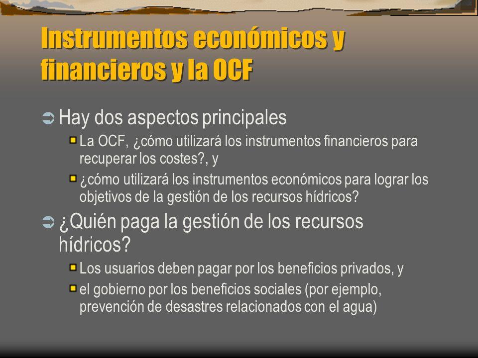 Instrumentos económicos y financieros y la OCF