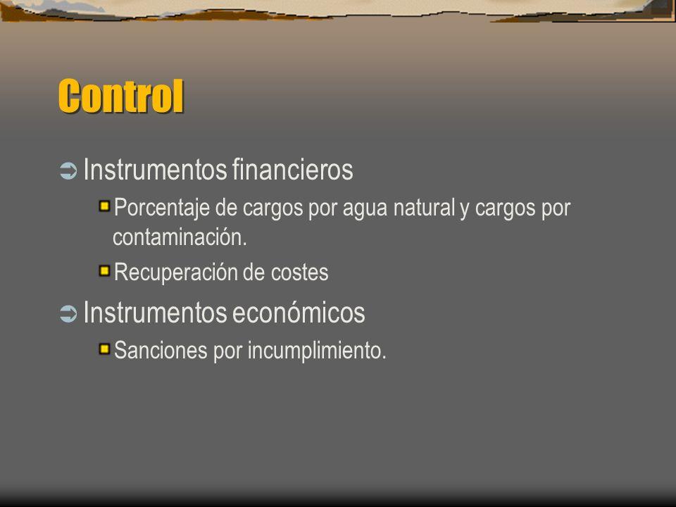 Control Instrumentos financieros Instrumentos económicos