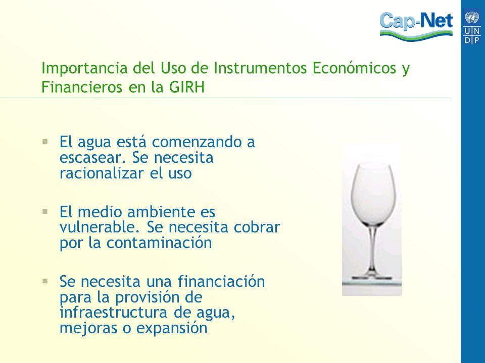 Importancia del Uso de Instrumentos Económicos y Financieros en la GIRH