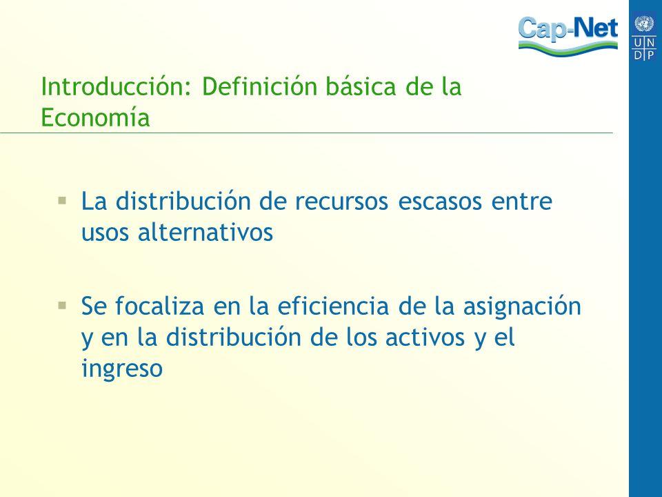 Introducción: Definición básica de la Economía