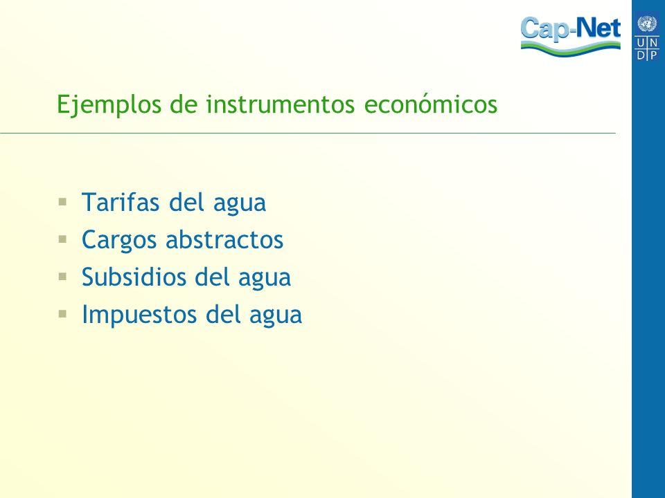 Ejemplos de instrumentos económicos