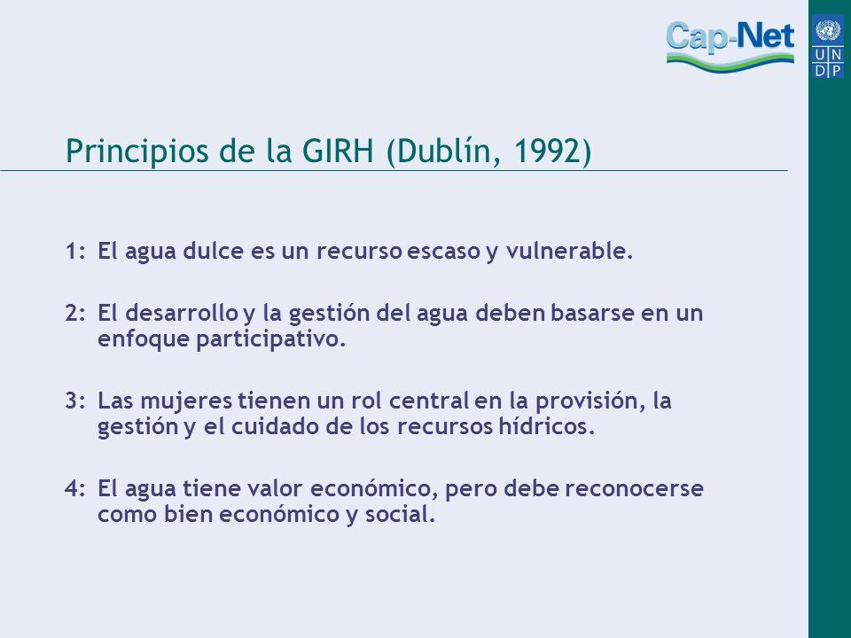 Principios de la GIRH (Dublín, 1992)