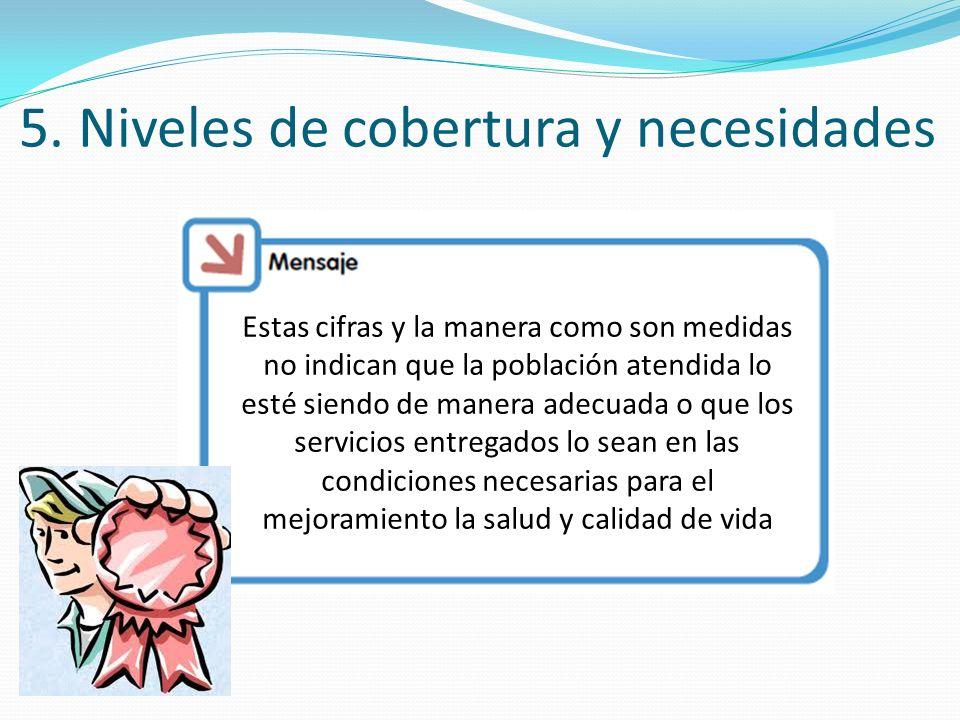 5. Niveles de cobertura y necesidades