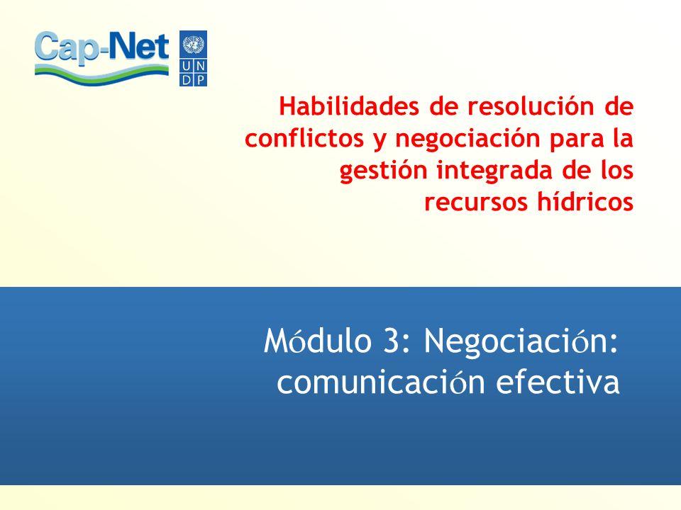 Módulo 3: Negociación: comunicación efectiva