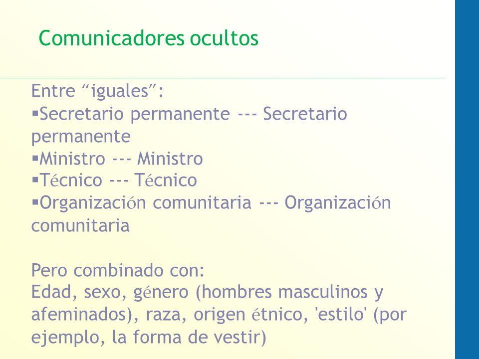 Comunicadores ocultos