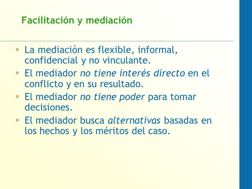 Facilitación y mediación