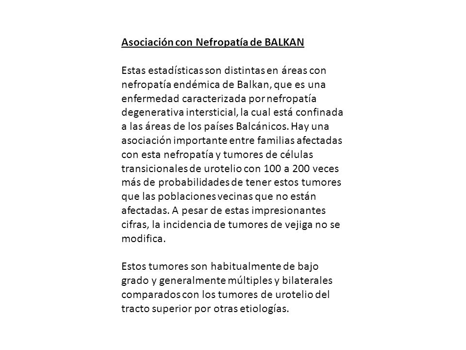 Asociación con Nefropatía de BALKAN