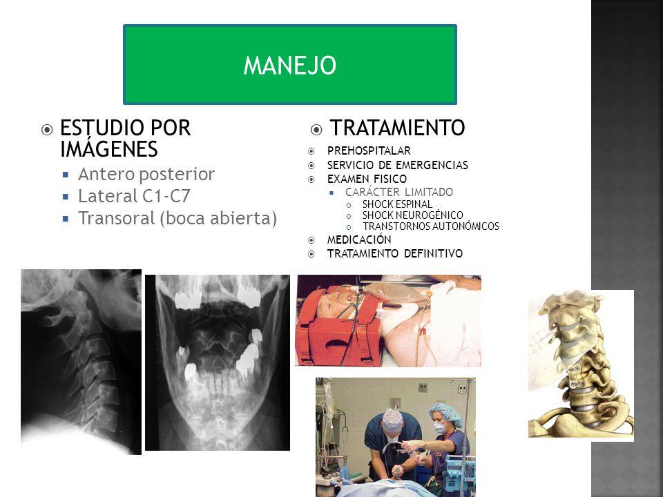 MANEJO ESTUDIO POR IMÁGENES TRATAMIENTO Antero posterior Lateral C1-C7