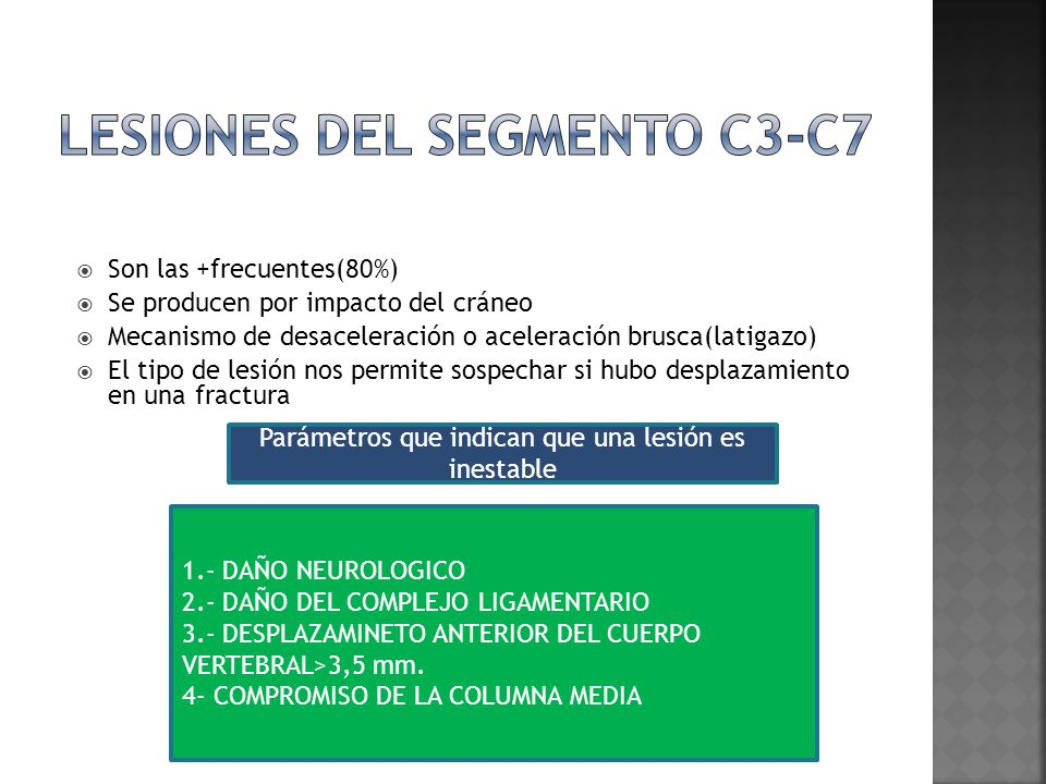 Lesiones del segmento c3-c7