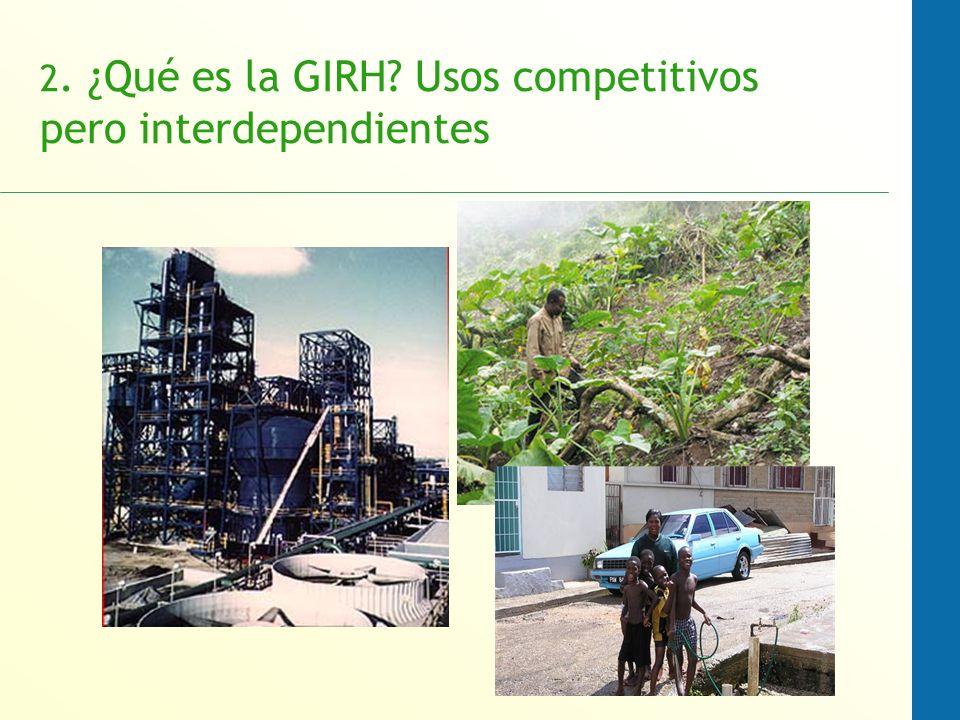 2. ¿Qué es la GIRH Usos competitivos pero interdependientes