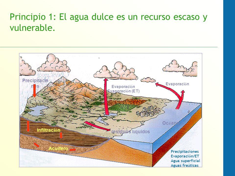 Principio 1: El agua dulce es un recurso escaso y vulnerable.