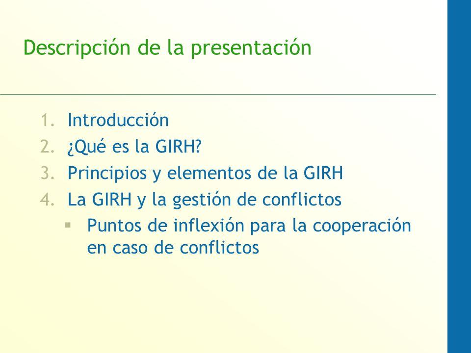 Descripción de la presentación