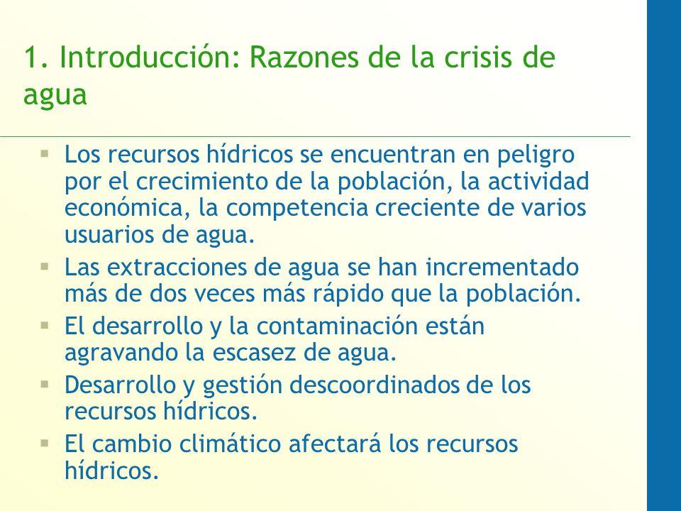 1. Introducción: Razones de la crisis de agua