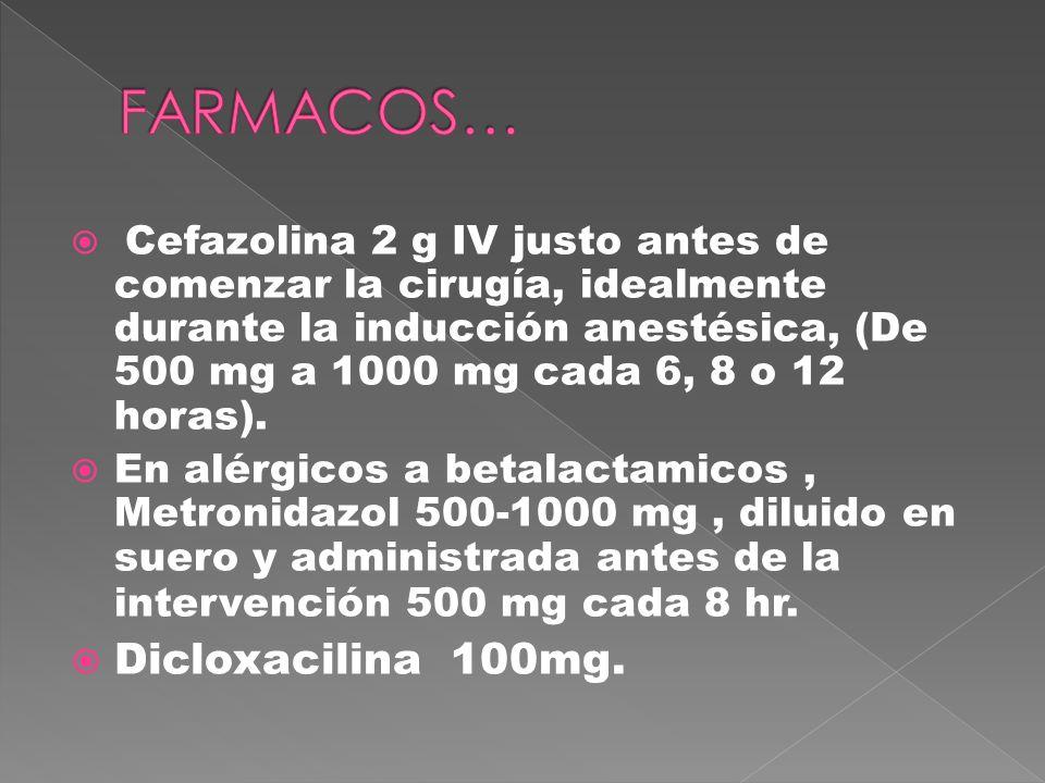 FARMACOS… Dicloxacilina 100mg.