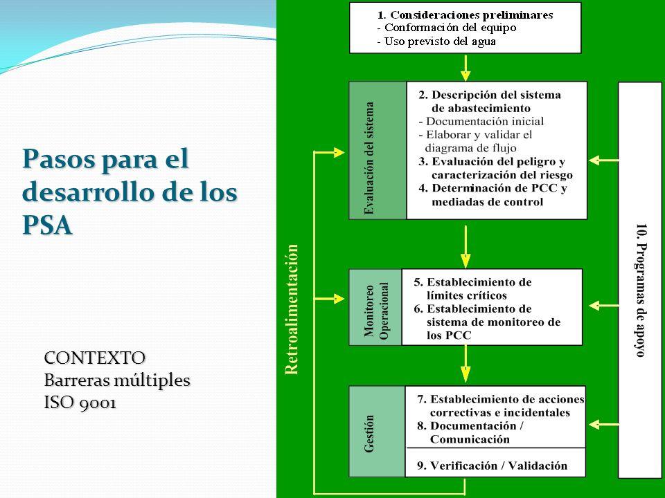 Pasos para el desarrollo de los PSA