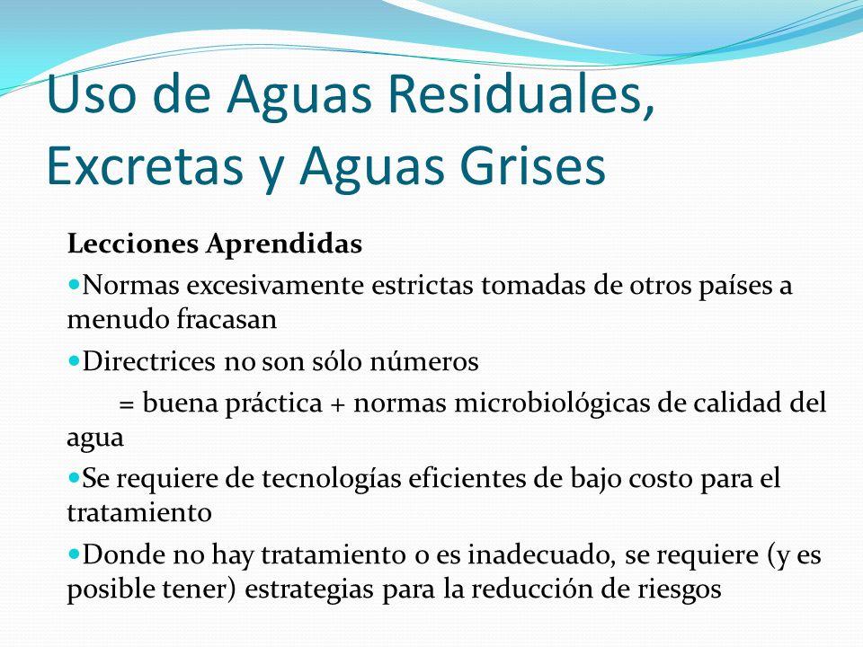 Uso de Aguas Residuales, Excretas y Aguas Grises