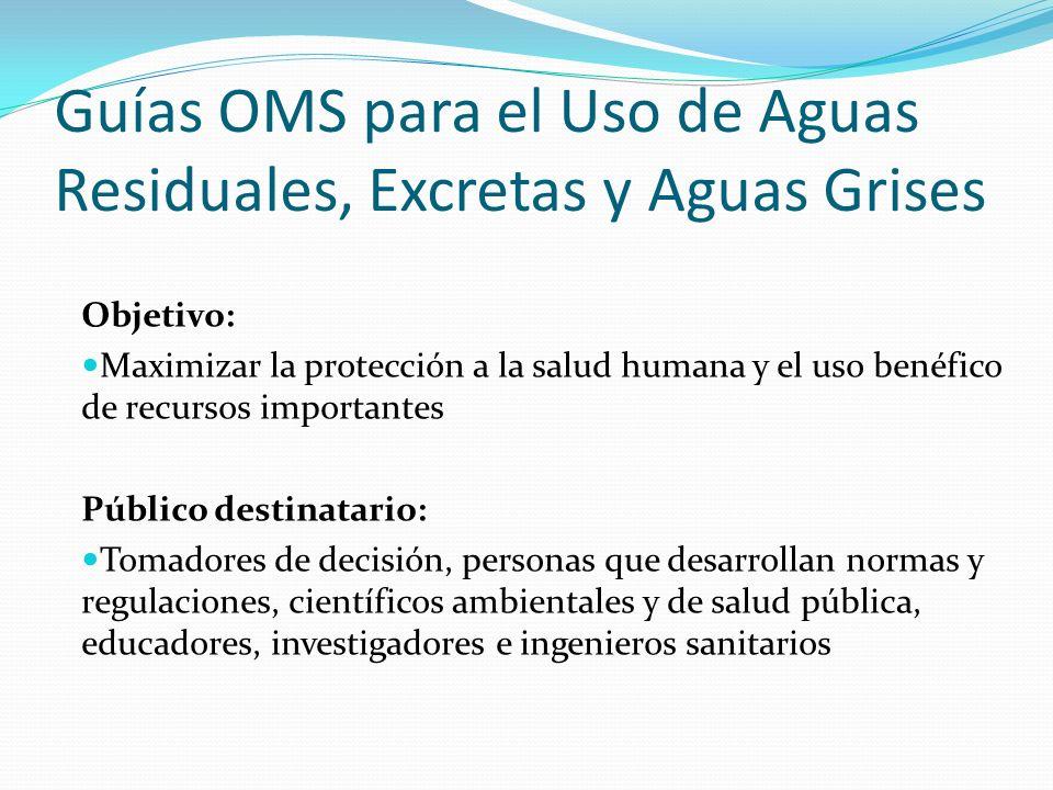 Guías OMS para el Uso de Aguas Residuales, Excretas y Aguas Grises