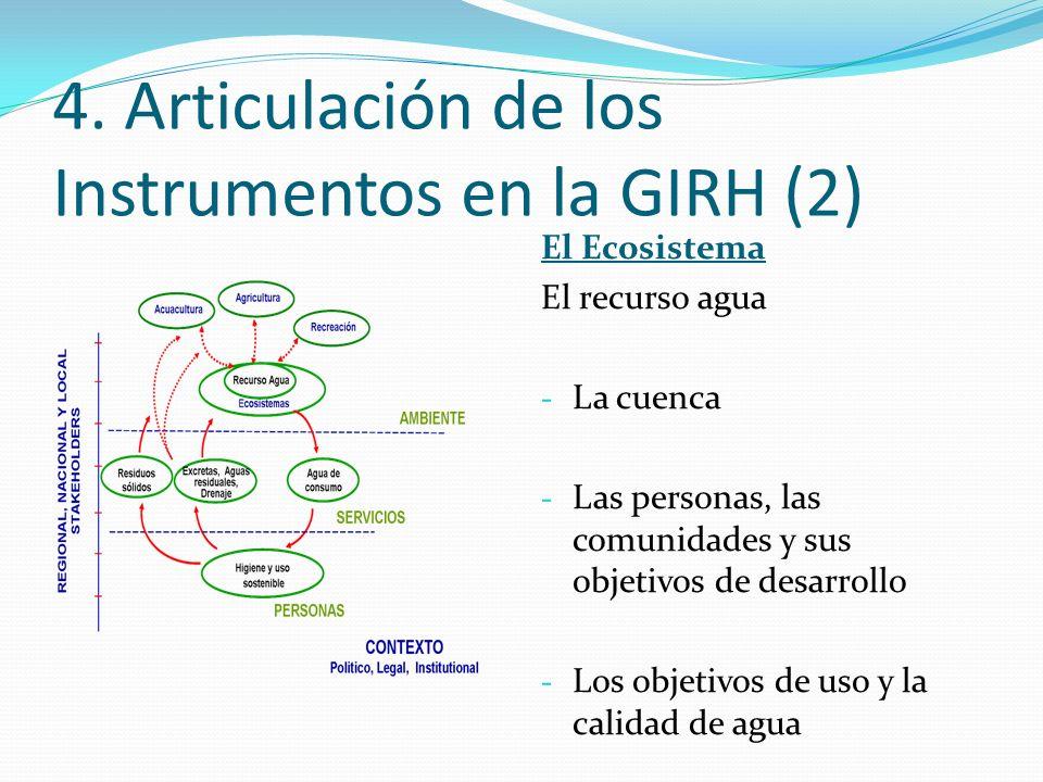4. Articulación de los Instrumentos en la GIRH (2)