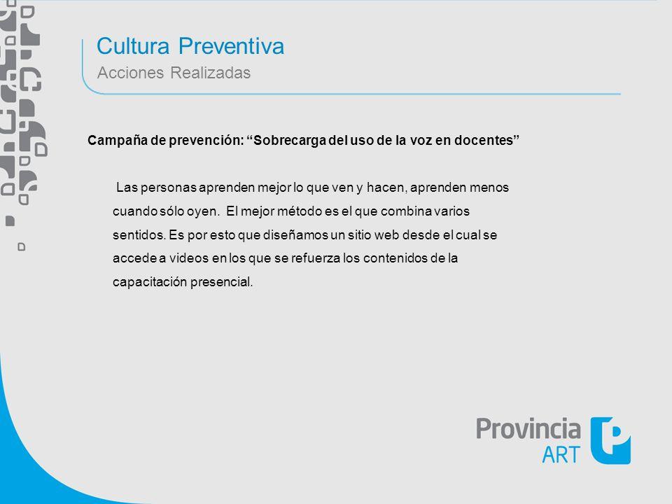 Cultura Preventiva Acciones Realizadas