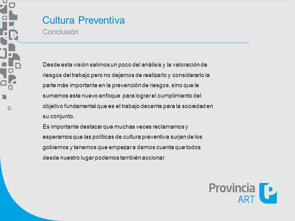Cultura Preventiva Conclusión
