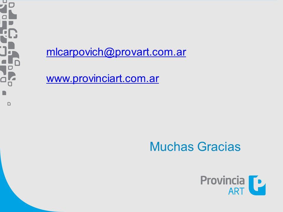 mlcarpovich@provart.com.ar www.provinciart.com.ar Muchas Gracias