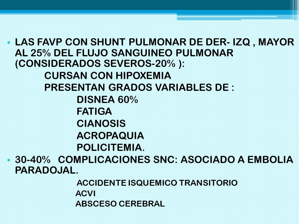 PRESENTAN GRADOS VARIABLES DE : DISNEA 60% FATIGA CIANOSIS ACROPAQUIA