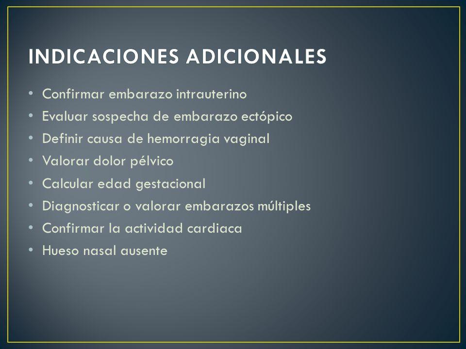 INDICACIONES ADICIONALES