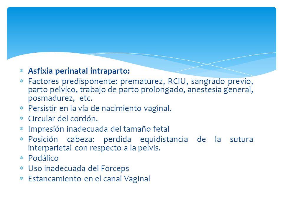Asfixia perinatal intraparto: