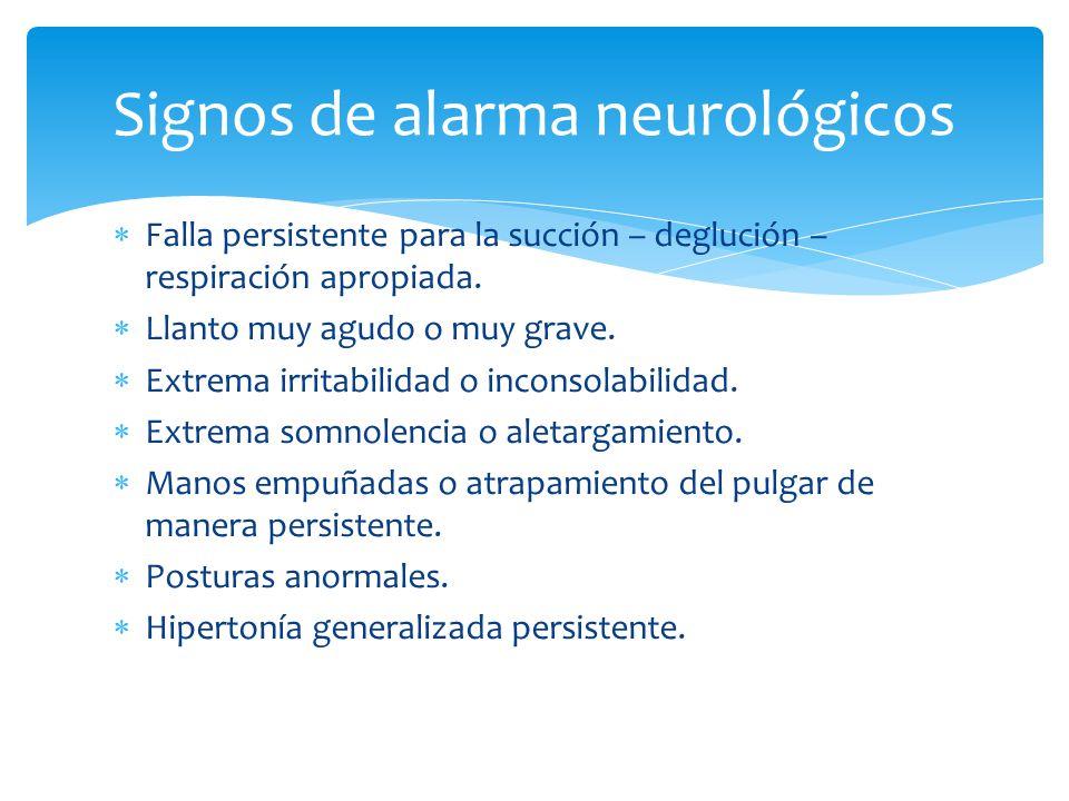 Signos de alarma neurológicos
